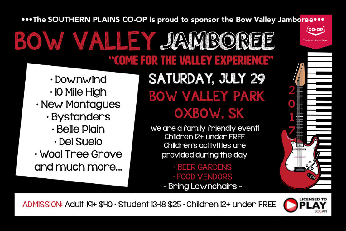Bow Valley Jamboree 2017 poster
